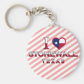 Stonewall, Texas Basic Round Button Keychain