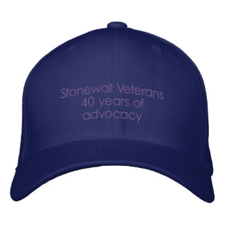 Stonewall Veterans 40 years of advocacy Embroidered Baseball Cap