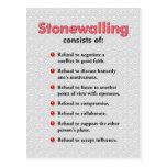 Stonewalling Postcard or Mini Art Poster