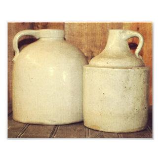 Stoneware Wine Jugs - Photograph