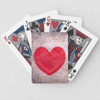 Stonewashed Heart Bicycle Playing Cards