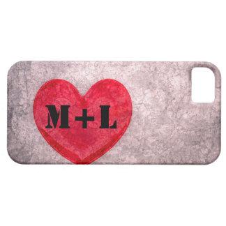 Stonewashed Heart - Personalize Monogram iPhone 5 Case
