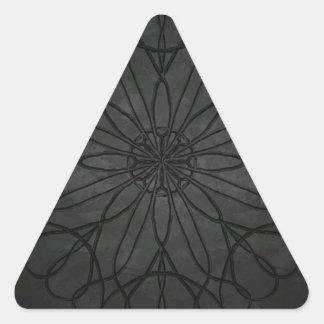 Stonework Flower Triangle Sticker