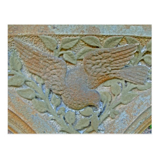Stonework Peace Dove with Quotation Postcard