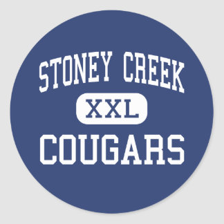 Stoney Creek - Cougars - High - Rochester Hills Classic Round Sticker