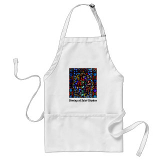 Stoning of Saint Stephens Stained Glass Art Apron
