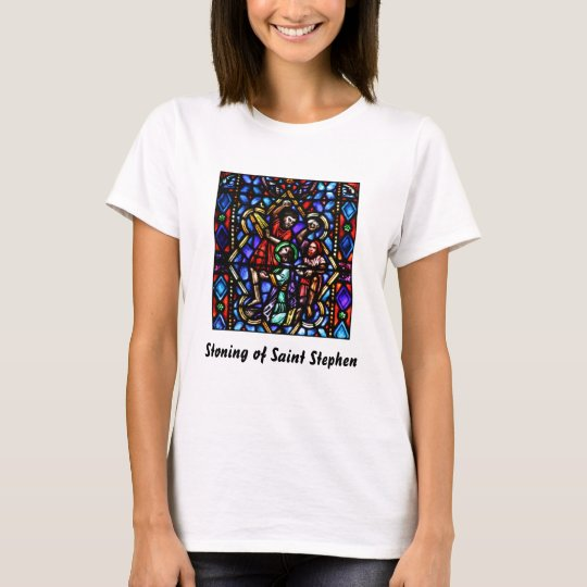 Stoning of Saint Stephens Stained Glass Art T-Shirt