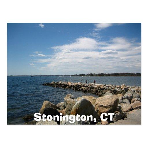 Stonington, CT Tarjeta Postal