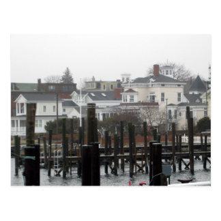 stonington from dock postcard