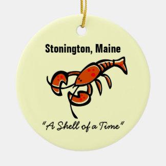 Stonington, Maine Lobster Ceramic Ornament