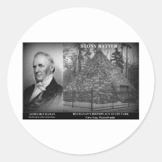 STONY BATTER - Birthplace of Pres. James Buchanan Classic Round Sticker