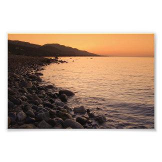 Stony Beach At Sunrise Photo Art