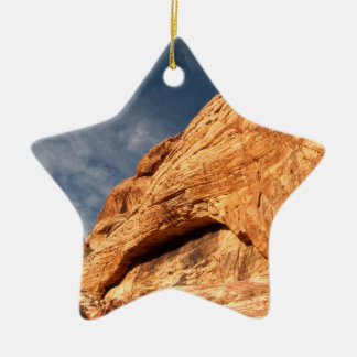 Stony Contrast Double-Sided Star Ceramic Christmas Ornament