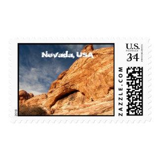 Stony Contrast; Nevada Souvenir Postage Stamp