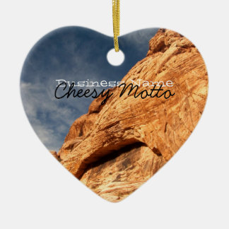 Stony Contrast; Promotional Double-Sided Heart Ceramic Christmas Ornament