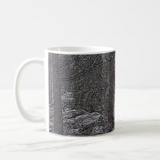 Stony forest classic white coffee mug