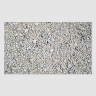 Stony Ground Background Texture Rectangle Stickers