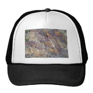 Stony Mountain Landscape Texture Trucker Hats