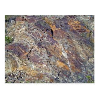 Stony Mountain Landscape Texture Postcard
