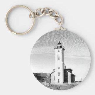 Stony Point Lighthouse Basic Round Button Keychain