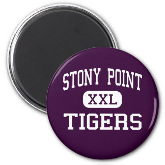 Stony Point - Tigers - High - Round Rock Texas 2 Inch Round Magnet
