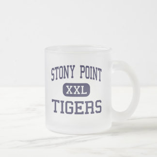 Stony Point - Tigers - High - Round Rock Texas 10 Oz Frosted Glass Coffee Mug