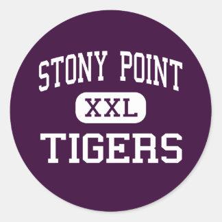 Stony Point - Tigers - High - Round Rock Texas Classic Round Sticker
