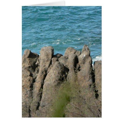 Stony Sea Shore Greeting Card