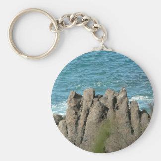 Stony Sea Shore Key Chain