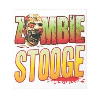 Stooge Zombie Head Memo Notepad