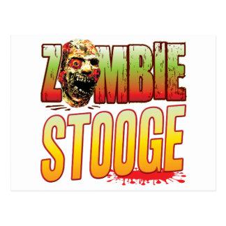 Stooge Zombie Head Postcard