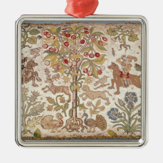 Stool cover, damask, late 16th century square metal christmas ornament