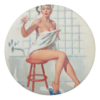 Stool pigeon sexy bathroom retro pinup girl eraser