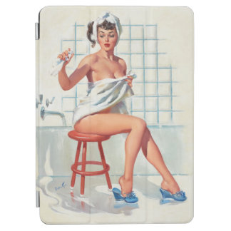 Stool pigeon sexy bathroom retro pinup girl iPad air cover