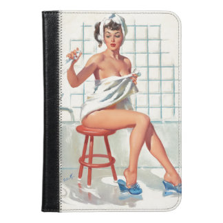 Stool pigeon sexy bathroom retro pinup girl iPad mini case