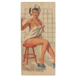 Stool pigeon sexy bathroom retro pinup girl wood USB flash drive