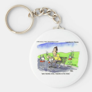 Stool Pigeons Funny Gifts Tees & Collectibles Keychain
