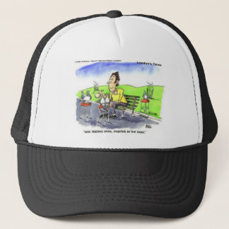 Stool Pigeons Funny Gifts Tees & Collectibles Trucker Hat