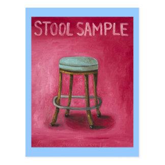 Stool Sample Postcard