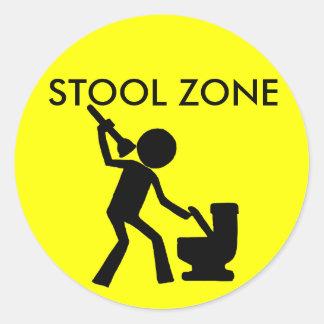 Stool Zone Sticker