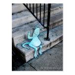 stoop-sitting sluggo postcard