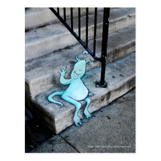 stoop-sitting sluggo postcard
