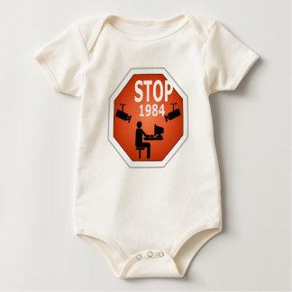 Stop 1984 Sign Baby Bodysuit
