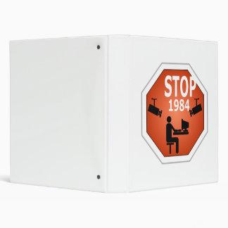 Stop 1984 Sign Binder