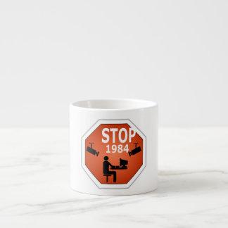 Stop 1984 Sign Espresso Cup
