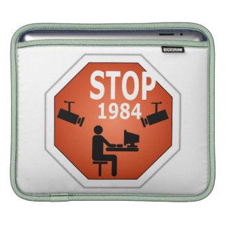 Stop 1984 Sign iPad Sleeve