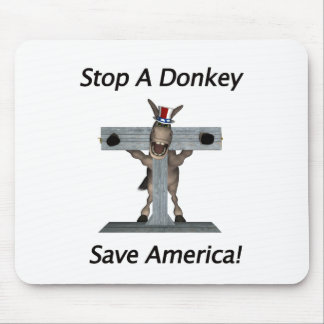 Stop A Donkey - Save America Mouse Pads