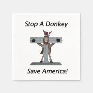 Stop A Donkey - Save America Napkin