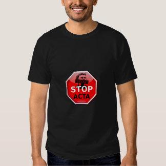 Stop ACTA Internet Censorship Shirt
