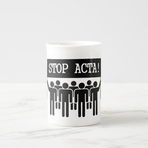 Stop ACTA Porcelain Mug